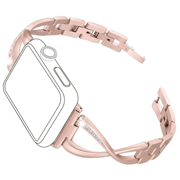 topp - Armband Apple Watch 38/40 mm, Metal Crystals, rosegold