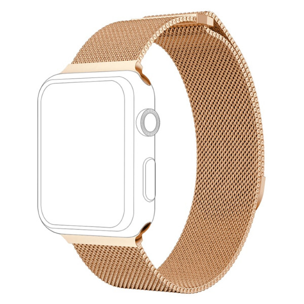 topp - Armband Apple Watch 38/40 mm, Mesh, rosegold