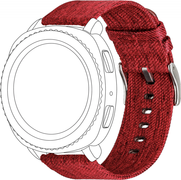 topp - Armband Samsung Galaxy 42mm/Active/Sport, Nylon, red