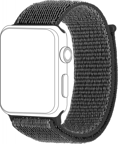 topp - Armband Apple Watch 38/40 mm, Loop, dark grey
