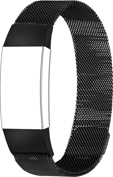 topp - Armband Fitbit Charge 3/ Charge 4, Mesh, black