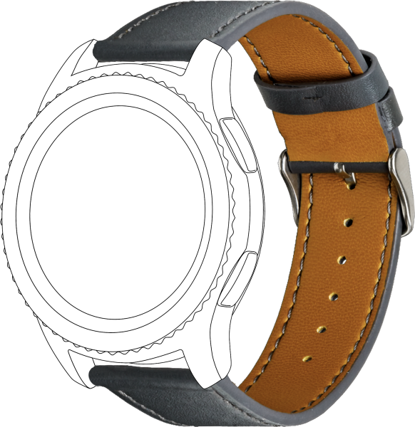 topp - Armband Samsung S3/Galaxy, Leather, grey, seam