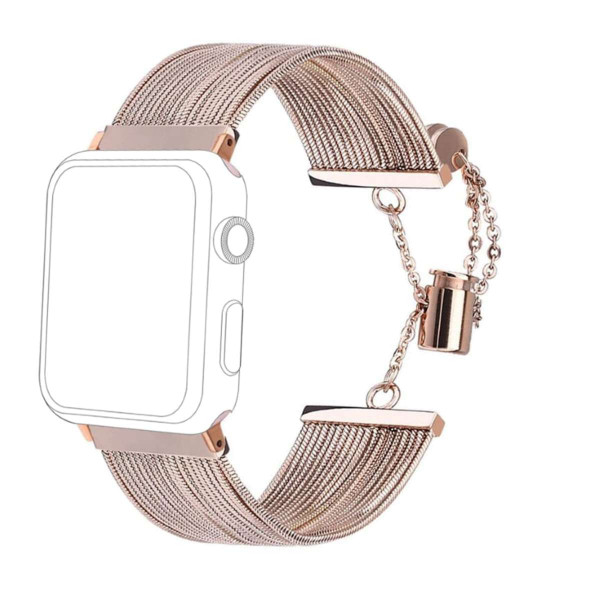 topp - Armband Apple Watch 38/40 mm, Metal Waterfall, rosegold