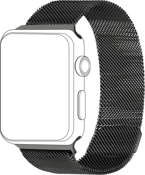 topp - Armband Apple Watch 42/44 mm, Mesh, grau