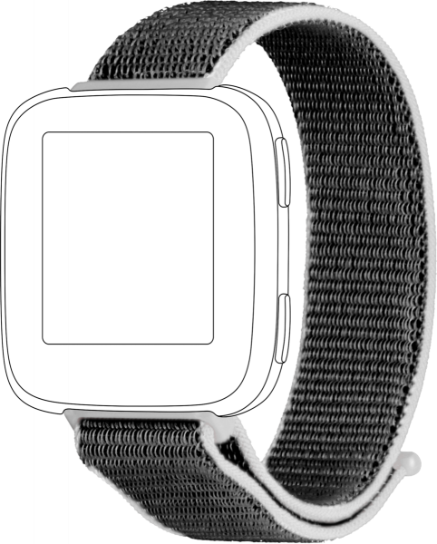 topp - Armband Fitbit Versa, Loop, light grey