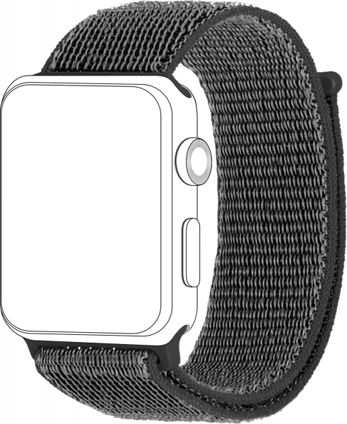 topp - Armband Apple Watch 42/44 mm, Loop, dark grey