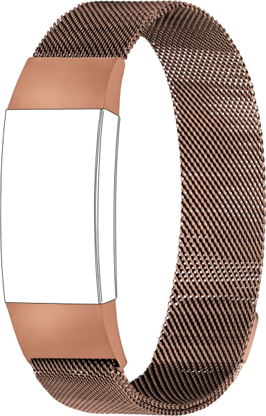 topp - Armband Fitbit Charge 3, Mesh, roségold
