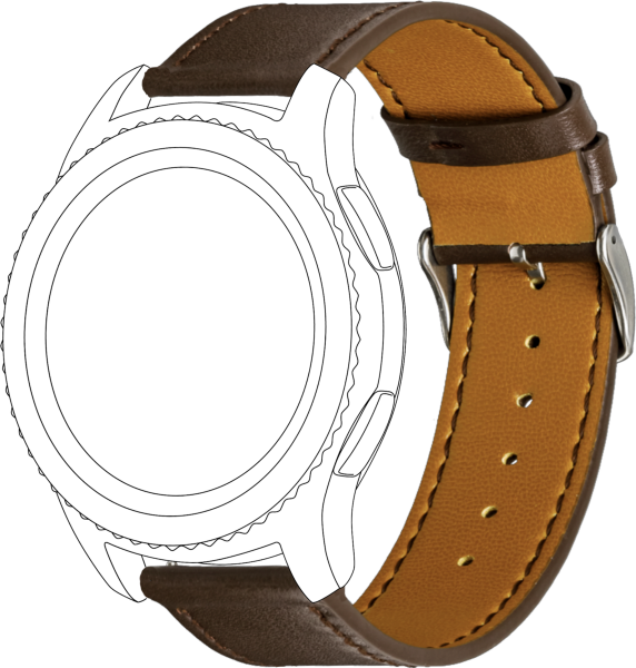 topp - Armband Samsung / Huawei, Leather, brown, seam