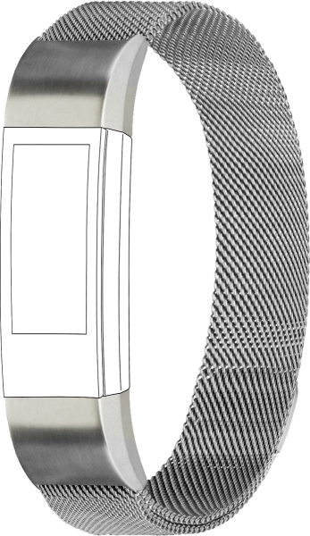 topp - Armband Fitbit Alta, Mesh, silver