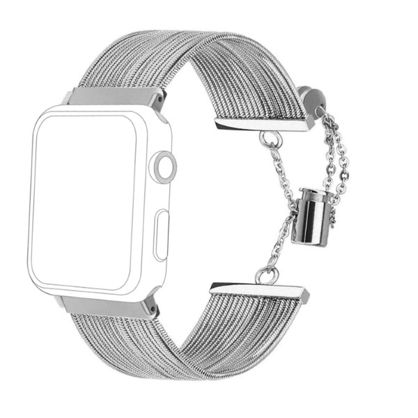 topp - Armband Apple Watch 38/40 mm, Metal Waterfall, silver