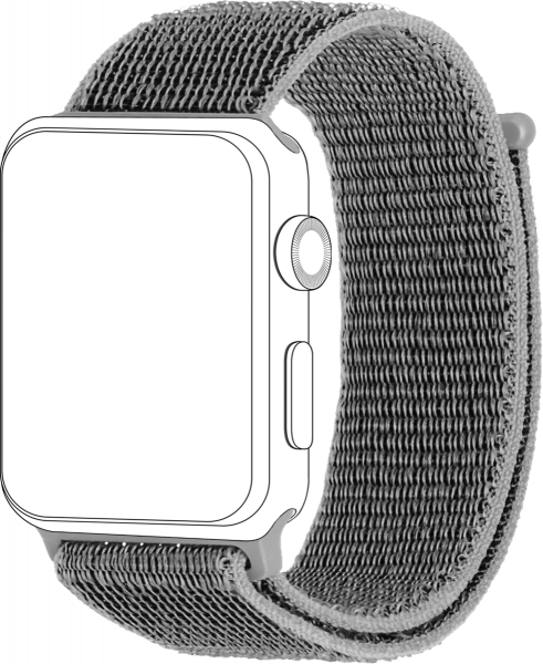 topp - Armband Apple Watch 38/40 mm, Loop, light grey