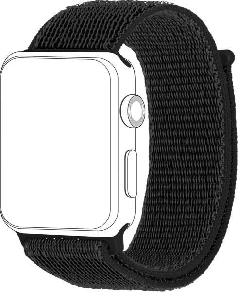 topp - Armband Apple Watch 38/40 mm, Loop, black