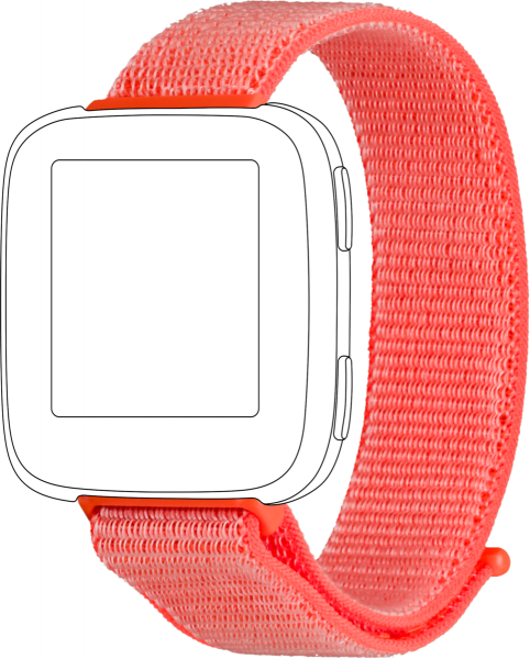 topp - Armband Fitbit Versa, Loop, orange