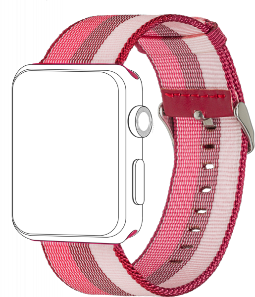 topp - Armband Apple Watch 38/40 mm, Nylon, berry