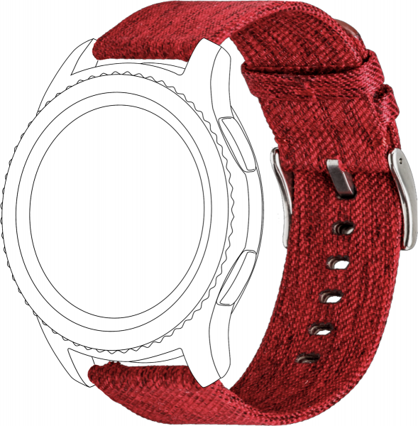 topp - Armband Samsung S3/Galaxy, Nylon, red
