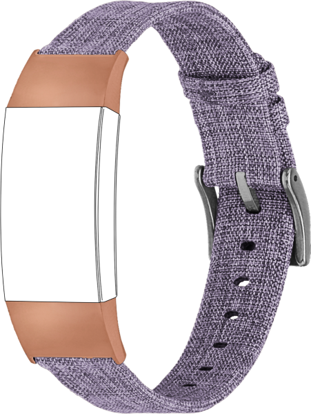 topp - Armband Fitbit Charge 3, Nylon, lila