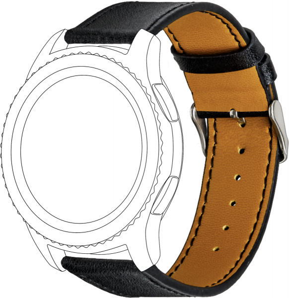 topp - Armband Samsung / Huawei, Leather, black, seam