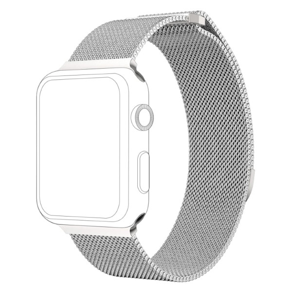 topp - Armband Apple Watch 38/40 mm, Mesh, silver
