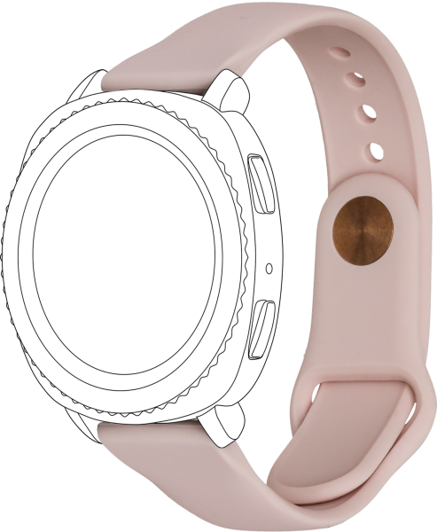 topp - Armband Samsung / Garmin / Huawei Watch, Silicon, rose